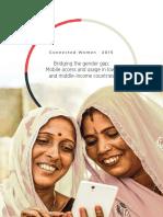 2015, Informe GSMA, Connected Women