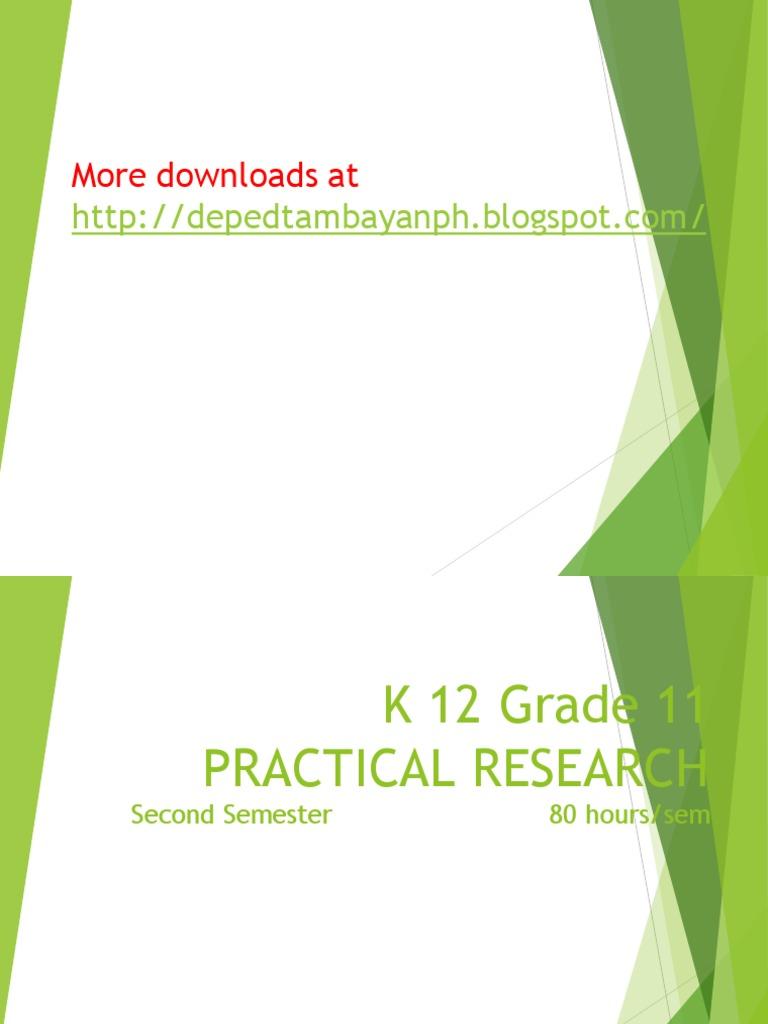 K 12 Grade 11 Practical Research 1 Simplified | Quantitative