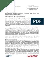 TechUK NASSCOM Letter to PM