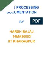 Image Processing Documentation by Harsh Bajaj
