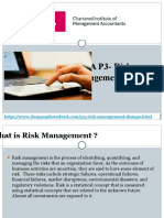 CIMA Real P3 Risk Management Exam Dumps