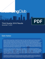 Lending Club Q3 2016 Earnings Presentation