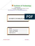 Student Counseling Book - COLLEGE