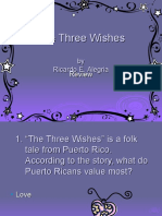 The Three Wishes Powerpoint