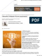5 Benefits of Robotic Process Automation by SSON Editor