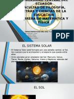Caracteristicas Del Sol y Los Planetas