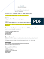 Module 8- Physical Assessment