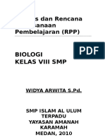Model Silabus RPP Biologi SMP Kls VIII