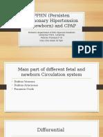 PPHN (Persisten Pulmonary Hipertension of Newborn)