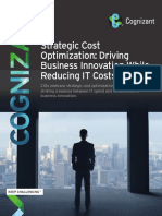 Strategic Cost Optimization Driving Business Innovation While Reducing IT Costs