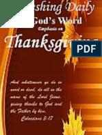 Thanksgiving November 2016