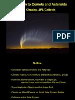 Intro Comets Asteroids Chodas