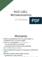 15. Monopoly