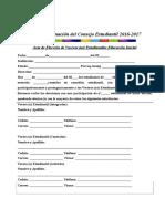 1.-Planilla de Registro Consejo Estudiantil