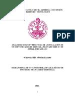 Análisis de Costos y Beneficios de La Instalación de Un Nuevo Secador de Aire