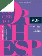 Programa de Sala | Orthesp 13/11 | Óperas Italianas