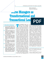 2 - Nurse Managers as Transformational and Transactional Leaders