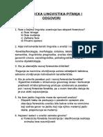 Forenzicka Lingvistika-pitanja i Odgovori