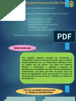 Las Redes Sociales en El Trabajo Universitario