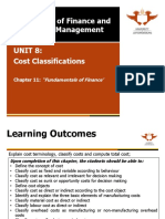Unit 8 Cost Classifications 2014
