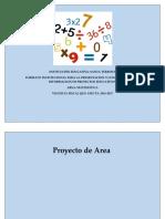 Proyecto Del Área de Matemática Emprendimiento Libro