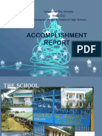 Accomplishment Report Other School