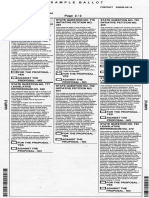 2016 general election sample ballot for Oklahoma (state questions)