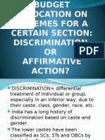Discrimination vs Affirmitive Action