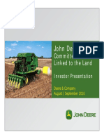 DEERE Investor Presentation Aug Sep With Bookmarks