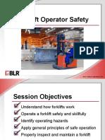 Forklift Operator Safety English