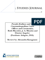 Pseudo-Kodinos and the Constantinopolitan Court