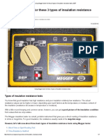 Using Megger Tester for These 3 Types of Insulation Resistance Tests _ EEP