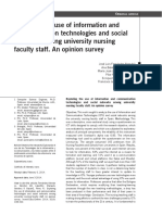 Exploring the Use of Information and Communication Technologies and Social Networks Among University Nursing Faculty Staff.