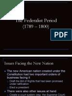 the federalist period