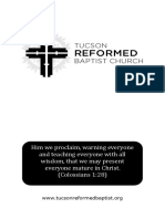 2-21-16 Tuscon Reformed Baptist Church