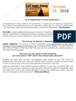 Satsang Notes 10-26-16