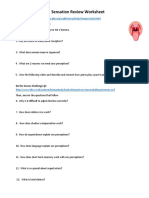 sensation review worksheet