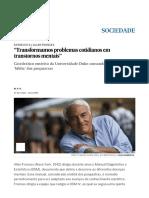 """""""Transformamos Problemas Cotidianos Em Transtornos Mentais"""" _ Atualidade _ EL PAÍS Brasil"""
