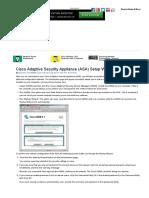 Cisco Adaptive Security Appliance (ASA) Setup Wizard - For Dummies