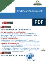 5. Certificación Microsoft