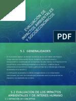 Evaluación de Impactos Ambientales y Socioeconómicos