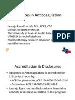 Advances in Anticoag TPA 201