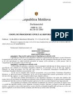 Cod de procedură civilă al RM