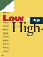 Low vs High Fidelity Prototyping 1996