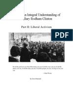 Toward an Integral Understanding of Hillary Clinton_Part II_Liberal Activism