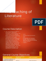 The Teaching of Literature Course Overview
