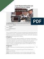 Diplomatura de Especialización en Ensayos No Destructivos 2015