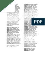 Vocab List for Students