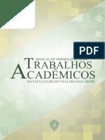 Manual de Normalização de Trabalhos Acadêmicos Faculdade Do Vale Do Jaguaribe