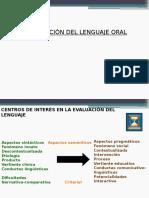 Evaluación Lenguaje Oral
